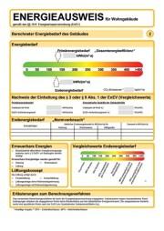 bedarfsorientierter Energieausweis Wohnhäuser, Energieeinsparverordnung, verbrauchsorientierter Energieausweis